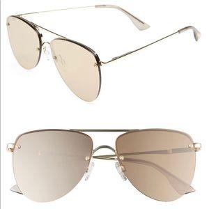 Le Specs Sunglasses Prince Gold Mirrored Aviator